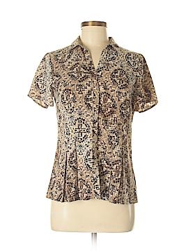 Dana Buchman Short Sleeve Button-Down Shirt Size S