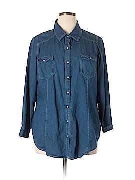 Daniel Rainn Long Sleeve Button-Down Shirt Size 1X (Plus)