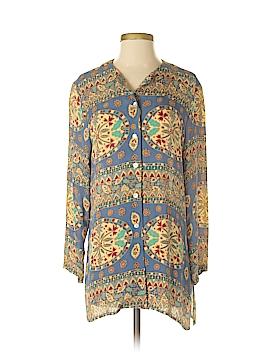 Henri Bendel Long Sleeve Silk Top Size XS