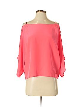 Karina Grimaldi 3/4 Sleeve Silk Top Size XS