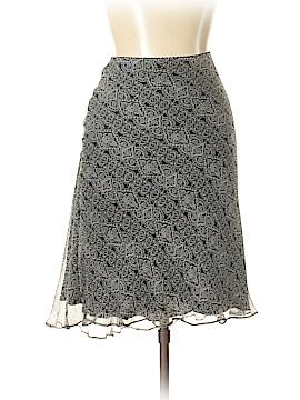 White House Black Market Silk Skirt Size 12