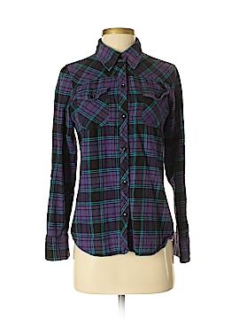 Rumors Long Sleeve Button-Down Shirt Size S