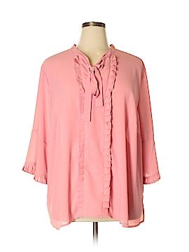 ELOQUII 3/4 Sleeve Blouse Size 26 (Plus)