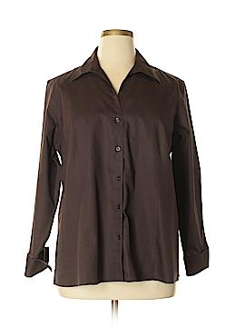 Jones New York Long Sleeve Button-Down Shirt Size 18W (Plus)