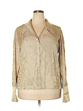 Ronni Nicole II Long Sleeve Button-Down Shirt Size 2X (Plus)