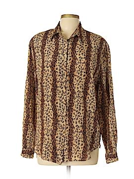 Allison Taylor Long Sleeve Silk Top Size L