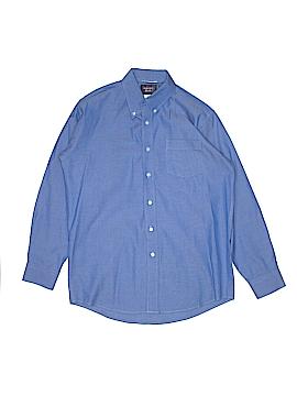 Rugged Bear Long Sleeve Button-Down Shirt Size 14