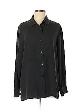 Sag Harbor Long Sleeve Silk Top Size 14