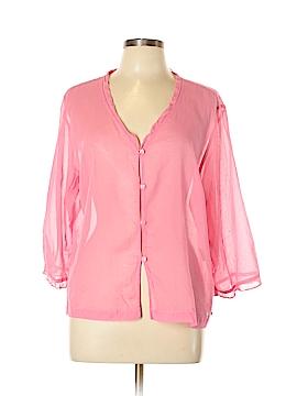 Sigrid Olsen Sport 3/4 Sleeve Button-Down Shirt Size XL