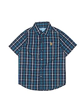 U.S. Polo Assn. Short Sleeve Button-Down Shirt Size 4T