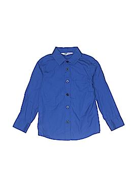 H&M Long Sleeve Button-Down Shirt Size 3-4