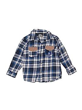 Boys Rock Long Sleeve Button-Down Shirt Size 4T