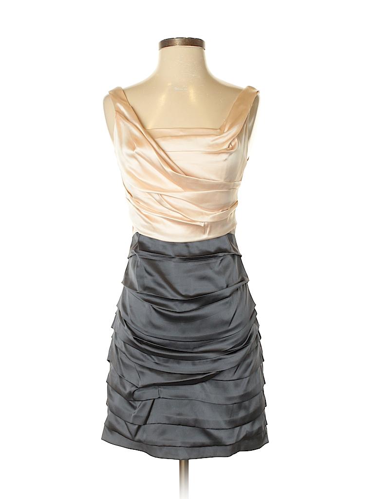 Express Design Studio Color Block Coral Cocktail Dress Size 2 - 79 ...
