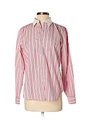 Chaps Women Long Sleeve Button-Down Shirt Size M