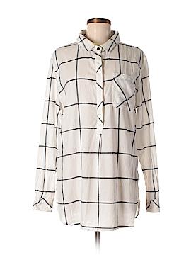 Athleta Long Sleeve Button-Down Shirt Size L