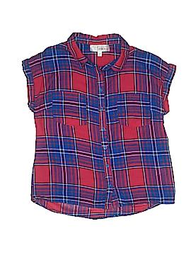 Derek Heart Short Sleeve Button-Down Shirt Size M (Youth)