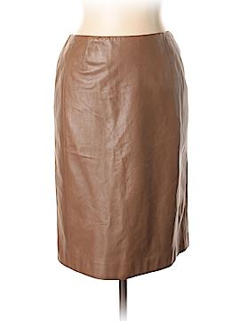 AKRIS Leather Skirt Size 10