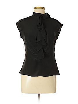 Teri Jon Sportswear Short Sleeve Silk Top Size 10