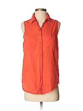 Michael Stars Sleeveless Button-Down Shirt Size Med (1)