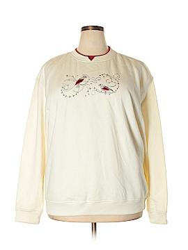 Feathers Sweatshirt Size 2X (Plus)
