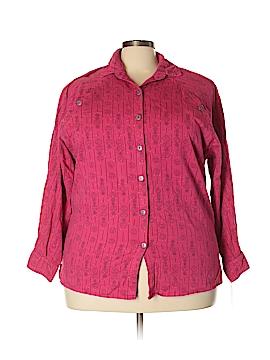 Liz Baker Long Sleeve Button-Down Shirt Size 1X (Plus)