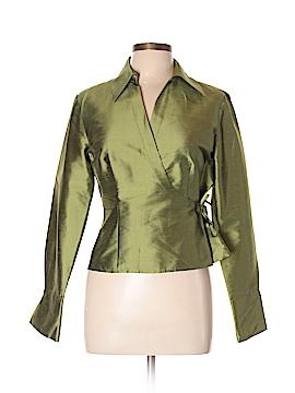 Sunny Leigh Long Sleeve Silk Top Size 10