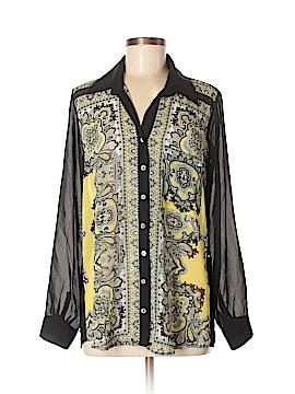 Blu Moon Long Sleeve Button-Down Shirt Size XS