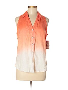 INC International Concepts Sleeveless Button-Down Shirt Size 6