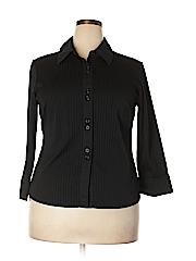 JPR Separates Women Long Sleeve Button-Down Shirt Size 1X (Plus)