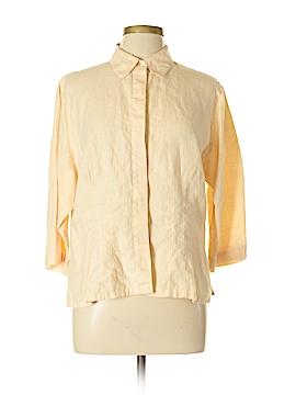 SILK CLUB COLLECTION 3/4 Sleeve Button-Down Shirt Size XL