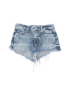Moto Denim Shorts Size 0