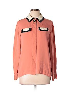 Issa London Long Sleeve Silk Top Size 4