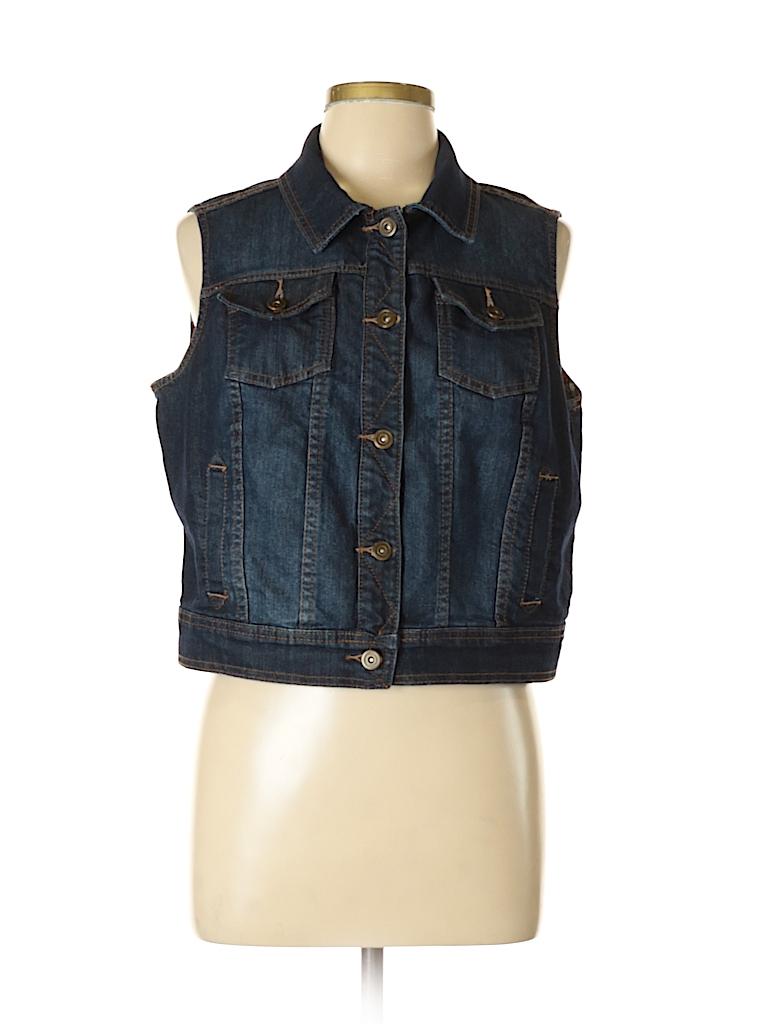 447f5d03f0357 Cato Solid Dark Blue Denim Jacket Size L - 62% off