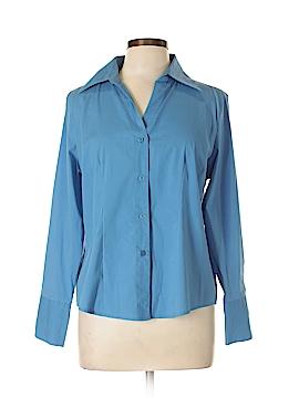 Jennifer & Grace Long Sleeve Button-Down Shirt Size L