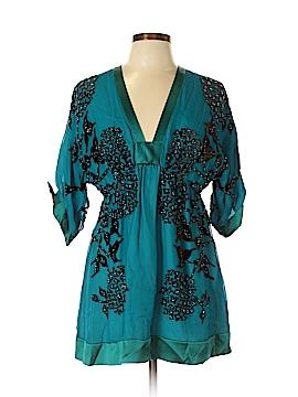 Hale Bob 3/4 Sleeve Silk Top Size L
