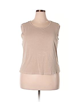 Fresh Produce Sleeveless T-Shirt Size 2X (Plus)