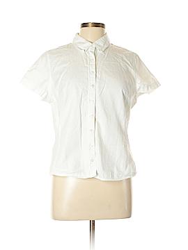 Isaac Mizrahi Short Sleeve Button-Down Shirt Size L