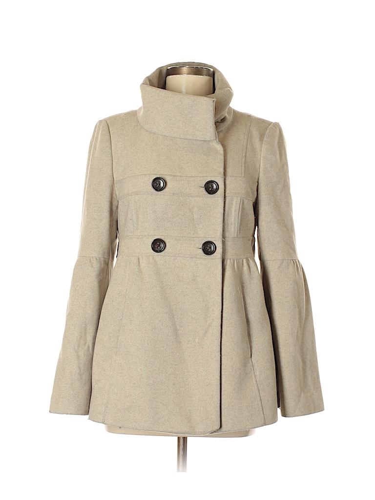 5ad40338e50 Ann Taylor LOFT Solid Tan Wool Coat Size 6 - 72% off