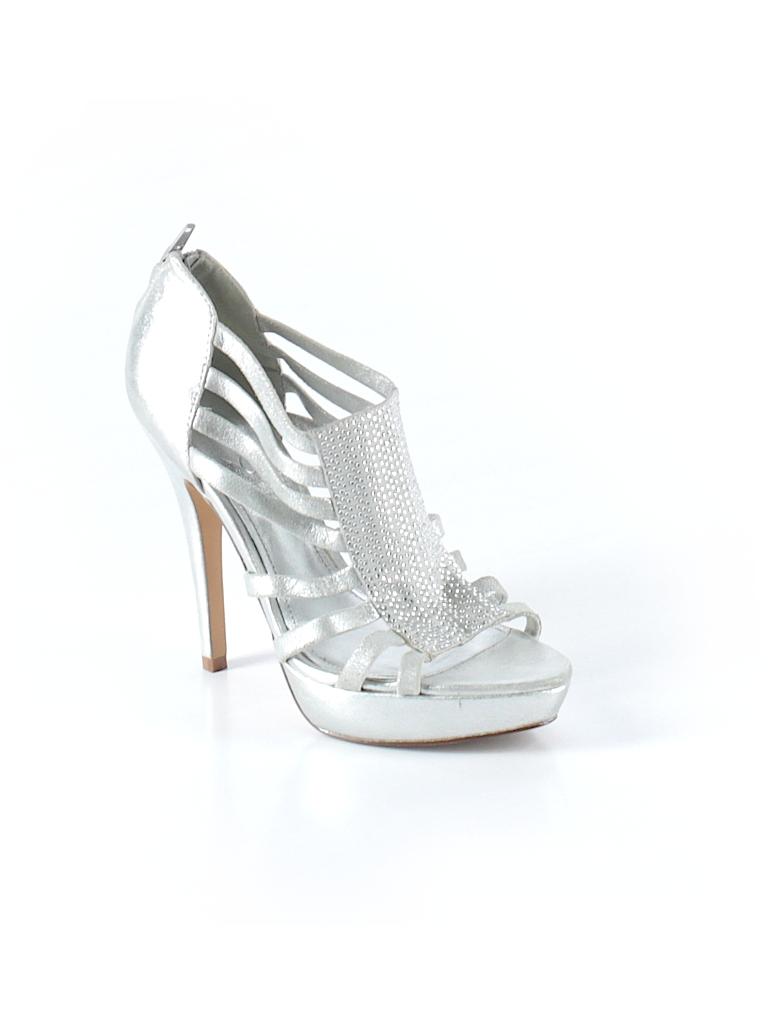 fe9b1fa3e35 Aldo Solid Silver Heels Size 37 (EU) - 90% off