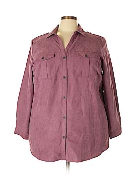 Jessica London Long Sleeve Blouse Size 20 (Plus)