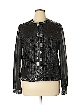 Desigual Faux Leather Jacket Size 48 (EU)
