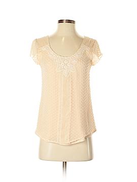 Beyond Vintage Short Sleeve Silk Top Size XS