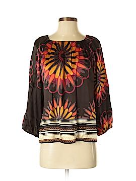 Peter Nygard 3/4 Sleeve Silk Top Size 6