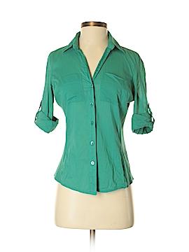 Ann Taylor Factory 3/4 Sleeve Button-Down Shirt Size 0
