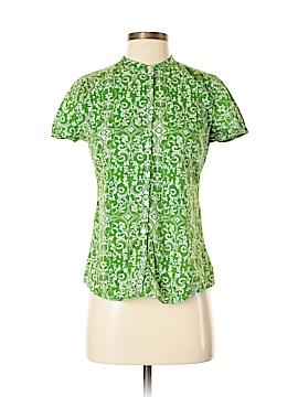 Saint Tropez West Short Sleeve Button-Down Shirt Size S
