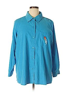 Quacker Factory Long Sleeve Button-Down Shirt Size 1X (Plus)