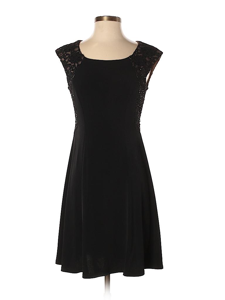 DressBarn Solid Black Cocktail Dress Size 4 (Petite) - 59% off | thredUP