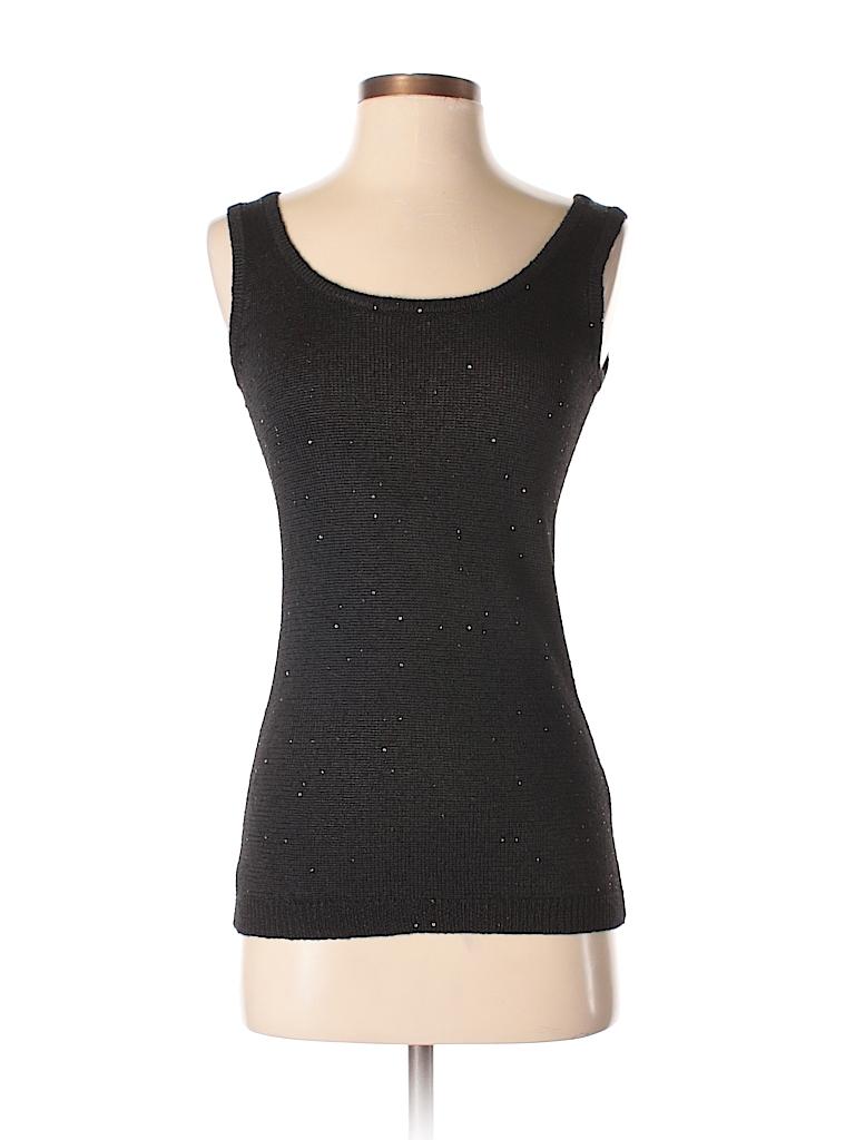 7fa6a6118de18 Saks Fifth Avenue Black Sleeveless Silk Top Size XS - 93% off