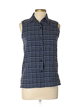 White Stag Sleeveless Button-Down Shirt Size S