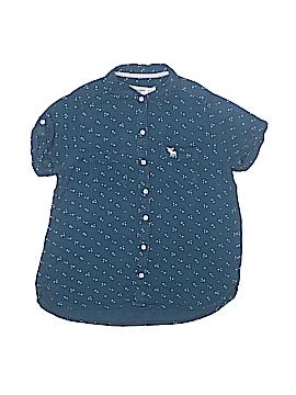 Abercrombie Short Sleeve Button-Down Shirt Size 11/12